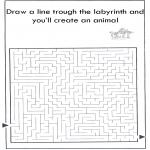 Håndarbejde - Dier labyrint kleuren 9