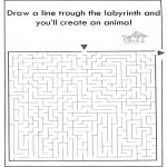 Håndarbejde - Dier labyrint kleuren