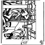 Bibel-malesider - Diorama David and Saul 1