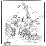 Bibel-malesider - Disciples fishing