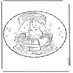Sy-kort - Dombo stitchingcard