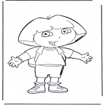 Børne-malesider - Dora the Explorer 1