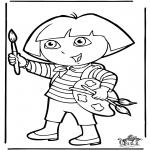 Børne-malesider - Dora the Explorer 10