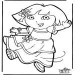Børne-malesider - Dora the Explorer 11