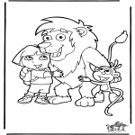 Børne-malesider - Dora the Explorer 2