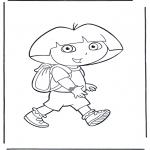 Børne-malesider - Dora the Explorer 21