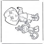 Børne-malesider - Dora the Explorer 23