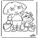 Børne-malesider - Dora the Explorer 4