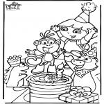 Børne-malesider - Dora the Explorer 7