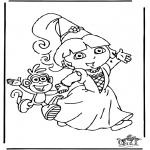Børne-malesider - Dora the Explorer 8