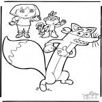 Børne-malesider - Dora the Explorer 9