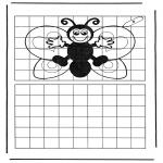 Håndarbejde - Drawing butterfly