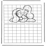 Håndarbejde - Drawing dog