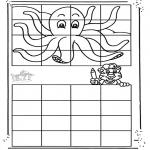 Håndarbejde - Drawing octopus