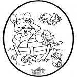 Tema-malesider - Easter bunnies - Pricking card 1