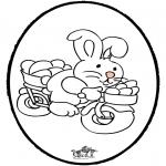 Tema-malesider - Easter Bunny - Pricking card 2