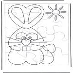 Tema-malesider - Easter bunny puzzle 1