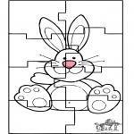Tema-malesider - Easter bunny puzzle 3