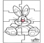 Easter bunny puzzle 3