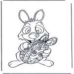 Tema-malesider - Easter bunny with egg