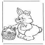 Tema-malesider - Easter bunny with eggs 2