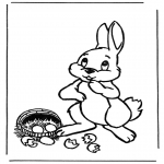 Tema-malesider - Easter bunny with eggs