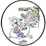 Tema-malesider - Easter - Pricking card 1