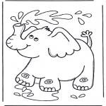Dyre-malesider - Elephant  blows water