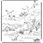 Bibel-malesider - Elia en de raven