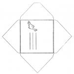 Håndarbejde - Envelop dino