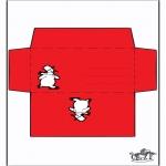 Jule-malesider - Envelop snowman