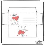 Håndarbejde - Envelop Valentijn 2