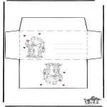 Håndarbejde - Envelop Valentijn