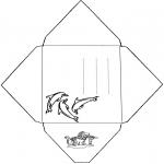 Håndarbejde - Envelope Dolphin
