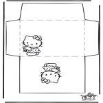 Håndarbejde - Envelope Hello Kitty