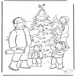 Jule-malesider - Familie in de sneeuw