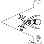 Håndarbejde - Flag pirate
