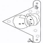 Håndarbejde - Flag Snowman 2