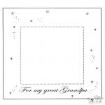 Tema-malesider - Fotoframe dear grandpa