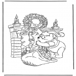 Jule-malesider - Free bible coloring pages winnie the pooh