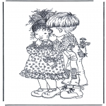 Diverse - Free coloring pages boy and girl