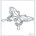 Dyre-malesider - Free coloring pages butterfly