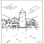 Diverse - Free coloring pages castle