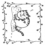 Dyre-malesider - Free coloring pages cat