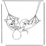 Sjove figurer - Free coloring pages Diddl