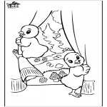 Tema-malesider - Free coloring pages easter chicken 2