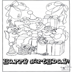 Tema-malesider - Free coloring pages Happy Birthday