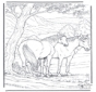 Free coloring pages horse