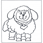 Dyre-malesider - Free coloring pages little sheep