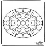 Mandala-malesider - Free coloring pages mandala insect